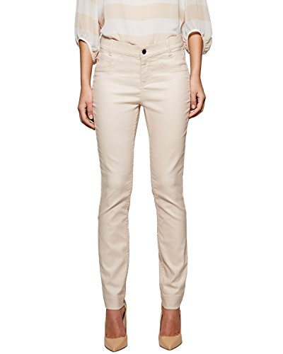 Comma Damen Straight Leg Jeanshose 81.503.76.1284, Gr. 46, Beige (powder 8022)