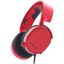 SteelSeries Arctis 3, Gaming-Headset, Kompatibel mit allen Plattformen, PC / Mac / PlayStation 4 / Xbox One / Nintendo Switch / Android / iOS / VR, Farbe Solar Red