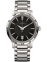 amazon co uk balmain swiss made watches balmain men s 43mm steel bracelet case quartz black dial watch