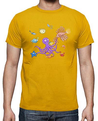 tostadora - T-Shirt Festa Octopus - Uomo Senape 4XL