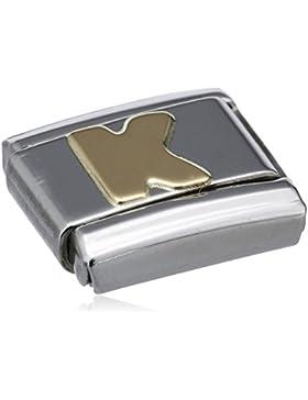Nomination Composable Classic BUCHSTABEN Edelstahl und 18K-Gold (K) 030101