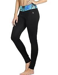 icyzone Pantalons Elastiques de Yoga Femmes Leggings Taille Haute Fitness  Jogging Collants 253f5447376