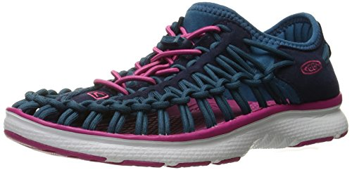Keen Unisex-Kinder Uneek O2 Plateausandalen, Blau (Dress Blues/Very Berry), 36 EU