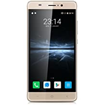Landvo XM300 5.0 Zoll IPS 3G-Smartphone Android 6.0 MT6580 Quad Core 1.3GHZ HD 1GB RAM+8GB ROM Screen Dual SIM Handy ohne Vertrag Dual Camera Fingerprint Smart Wake GPS Cellphone WIFI Gold