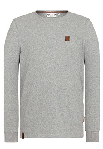 Naketano Male Sweatshirt Italienischer Hengst Langen V Gun Smoke Grey Melange