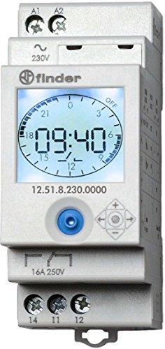 Preisvergleich Produktbild Finder Serie 12–Wöchentliche Zeitschaltuhr Serie 121Schließer 16A 230V
