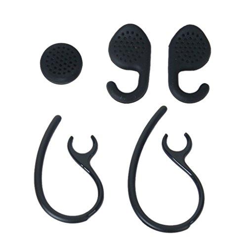 Ganci auricolari di ricambio e gel Set per Auricolare Bluetooth --- Nero