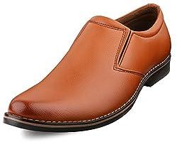 Escaro Mens Tan Formal Slip On Dress Shoes (ES1036KB_TAN_6)