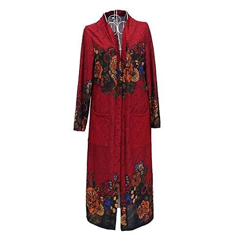 Women's Daily/Going Out Boho/Sophisticated Winter/Fall & Winter Long Coat,Fuchsia,XL -