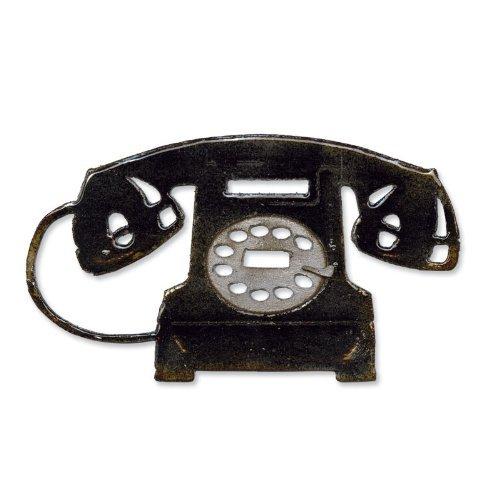 Sizzix Vintage Telefon von Tim Holtz Bigz Stanzschablone, schwarz