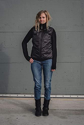 THOKKTHOKK Damen Weste Kapok Schwarz Fair Vegan, Größe:L - 3