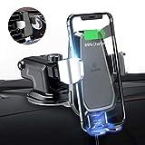 andobil Wireless Charger Auto, Qi Handyhalter fürs Auto Automatisch Motor Betrieb 10W Fast Charging Air Vent & Dashboard kompatibel für alle 4,1 bis 6,5 Zoll Qi befähigte Smartphones
