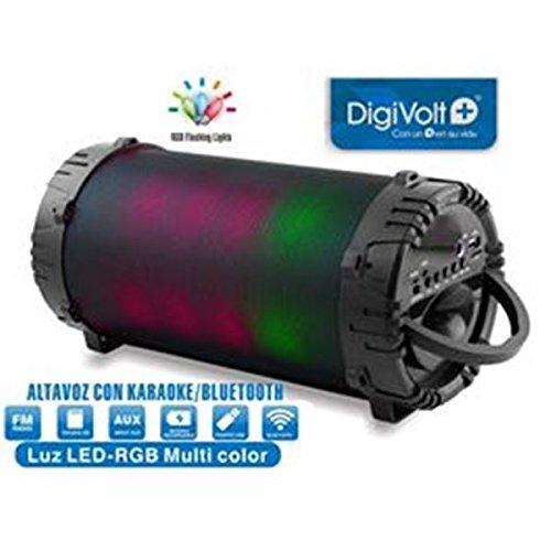 DIGIVOLT ALTAVOZ CON BLUETOOTH Y CARAOKE LUZ LED RGB MULTICOLOR