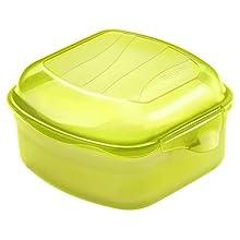 Rotho 1710905073 Funbox Vesper Contenitore per Il Pane, Senza BPA e Senza Materiali tossici, Prodotto in Svizzera, Circa 11,5 x 11 x 6,5 cm (LxPxA), Verde Vesper Box, plastica, Verde Lime