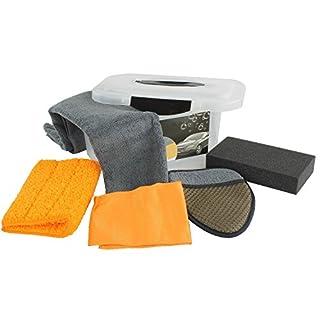K&G KL20016 5-TLG. Auto Pflegeset Box| Fahrzeugpflege|Reinigung & Aufbereitung von KFZ-Fahrzeugen |Trockentuch| Mikrofaser| Poliertuch