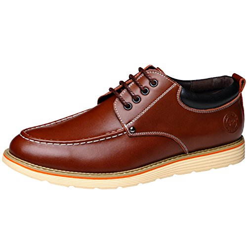 Oasap Homme Derbies A Lacet Talons Plats Oxford Mode Jaune