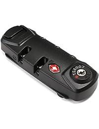 BlueBeach® TSA Cadenas de sécurité à combinaison de 3 chiffres, pour valise et bagages, approuvé par la TSA voyage sécurisé