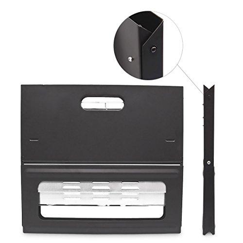 41DgVJbJdsL - Relaxdays Klappgrill, praktisch, tragbar, inkl. Rost und Kohleschale, H x B x T: 30,5 x 30 x 45,5 cm, schwarz