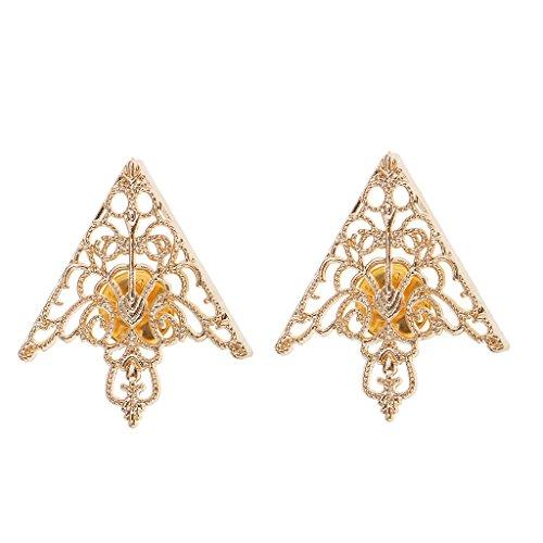Mode Hohlen Dreieck Bluse Hemdkragen Brosche Dekor Geschenk Gold