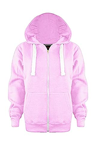 Vanilla Inc® Boys Girls Junior New Zip Top PLAIN Fleece