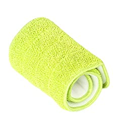 Generic 3 Colors Replacement Washable Microfiber Mop Mop Cleaning Pads Wet & Dry Flat Shape Aerosol Mops Household Cleaning Tools-green