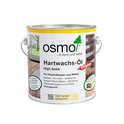 OSMO Hartwachs-Öl 3032 Farblos Seidenmatt, 2,5 L