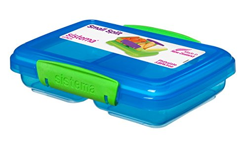 "Sistema 350 ml Snackbox \""SMALL SPLIT\"" - Phthalate- und BPA-freie Mini-Lunchbox 41518 (blau)"