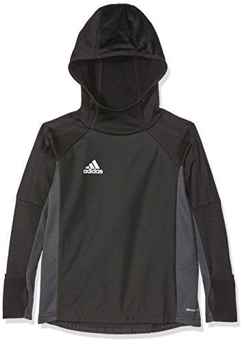 adidas Jungen Tiro 17 Warm Top Hoodie, Black/Dark Grey/White, 116 Preisvergleich