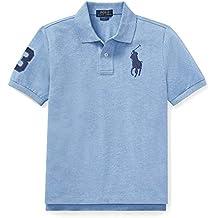 Ralph Lauren - Big Pony Polo para niños de 6-14 años - Azul Jamaica