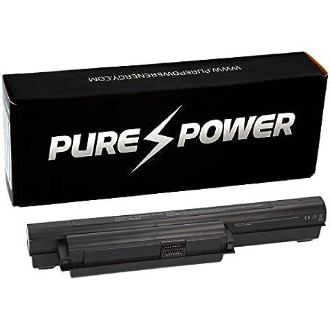 PURE⚡POWER® EXTENDED Batería del ordenador portátil para Sony Vaio PCG-71211M (11.1V, 6600 mAh, negro, 9