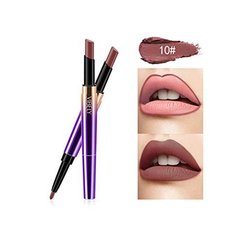 Kltipeng Doppel-Ende Lasting Lipliner wasserdicht Lip Liner Stick Bleistift 16 Farbe(J)