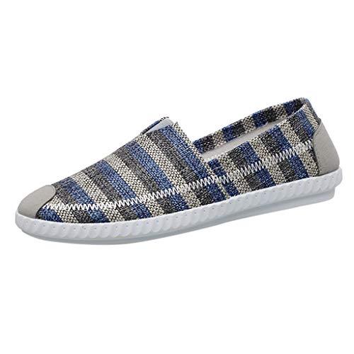 RYTEJFES-Sneaker Faule Schuhe Herren Segeltuchschuhe Atmungsaktiv Bequem Freizeitschuhe Klassiker Slip-on Halbschuhe Mann-beiläufige Wasserschuhe Wanderschuhe