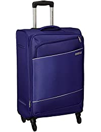 American Tourister Timor Polyester 67 cms Blue Softsided Check-in Luggage (AMT Timor Spinner 67CM - Blue)