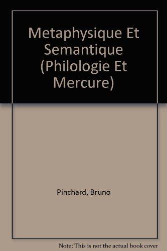 Métaphysique et sémantique ( La signification analogique des termes dans les principes métaphysiques) suivi de Thomas de Vio-Cajetan, L'analogie des noms