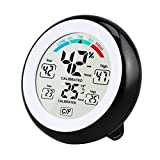 EisEyen Digitales Thermo Hygrometer Thermometer, Digitales Monitor Temperatur und Luftfeuchtigkeit mit MIN/Max Records, LCD Display für Schlafzimmer, Büro, Wohnzimmer