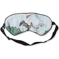 Comfortable Sleep Eyes Masks Cat Fish Pattern Sleeping Mask For Travelling, Night Noon Nap, Mediation Or Yoga preisvergleich bei billige-tabletten.eu