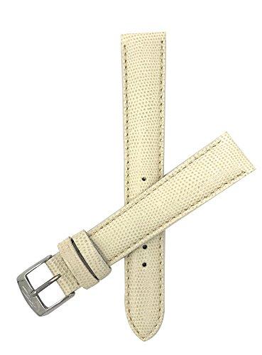 ZRC 16mm Beige Leder Uhrenarmband, Eidechsen-Stil