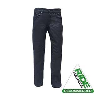 bull-it Herren Öl Haut SR6Motorrad Jeans Pants schwarz lang 34/W34