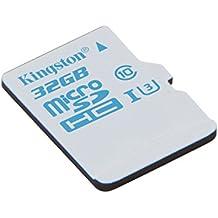 Kingston SDCAC/32GB - Tarjeta de memoria microSD de 32 GB para Action Camera (UHS-I U3, para GoPro y drones)
