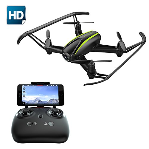 Drone avec caméra HD, Potensic Super Grand Angle à 120 degrés RC Drone avec WIFI 720P caméra