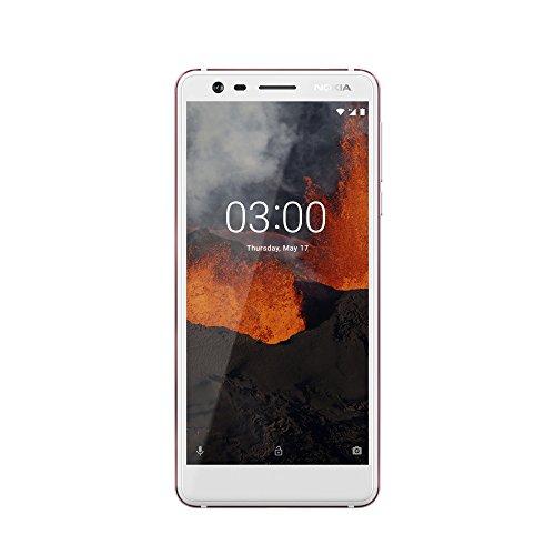 Nokia Nokia 3.1–Versione 2018(MP fotocamera grandangolare, LTE, Android 8.0, di alta qualità, corpo in alluminio, Dual SIM) Bianco/Ferro [Germania]