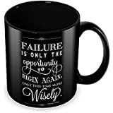 Tuelip Coffee Mug Failure is Opportunity Wisely Quote Classic Style Gifts Return Gifts Tea Mug 350 ML