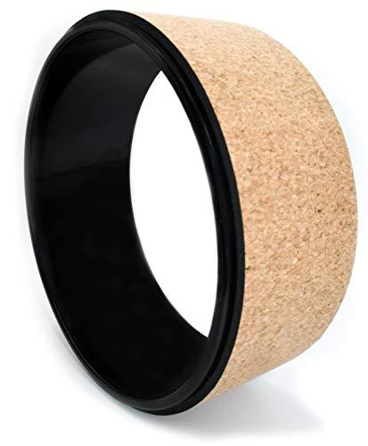 JAP Sports - Yoga Rad - Pilatus Wheel | ⌀ 33 cm | Naturkork Schwarz
