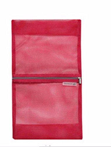 KAFEI Sac de voyage de salle de bain vêtements de grille rangé petit, rouge (Baumwolle Nylon Petite)