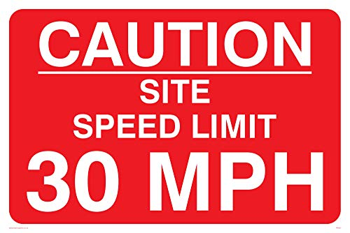 Viking Schilder pr561-a2l-ac Caution Ort Speed Limit 30mph Schild aus Aluminium, Composite, 400mm H x 600mm W -