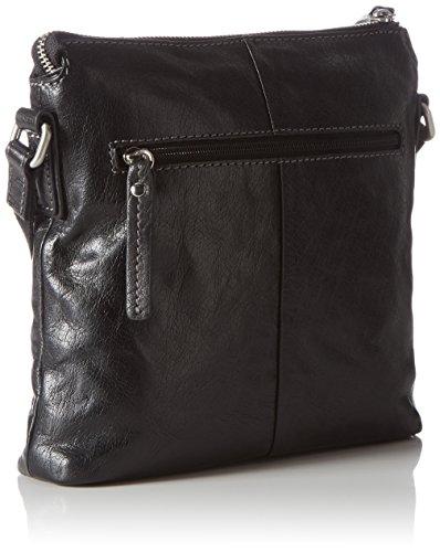 Gerry Weber - Lugano Shoulder Bag MV, Borsa a spalla Donna Nero (Nero (Black 900))