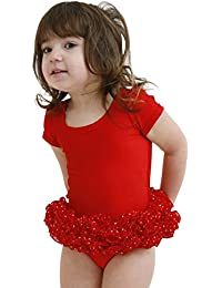 FRILLY LILY BABY POLKA DOT TUTU IN RED 12-18MTHS