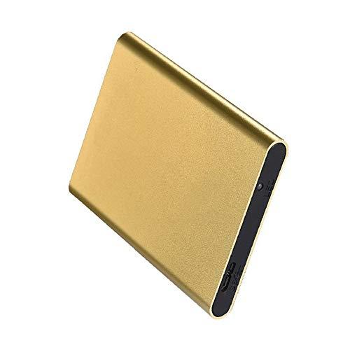 Ysy Externe Festplatte 80GB-2TB USB3.0 2,5-Zoll-hochgeschwindigkeitsübertragung Für Desktop Und Notebook,Gold,2TB -