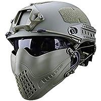 zezego Máscara piloto: sistema de banda de modo dual Máscara de protección táctica para exteriores