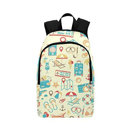 Urlaub Tourismus Mobiles Symbol Casual Daypack Reisetasche College School Rucksack für Männer und Frauen -